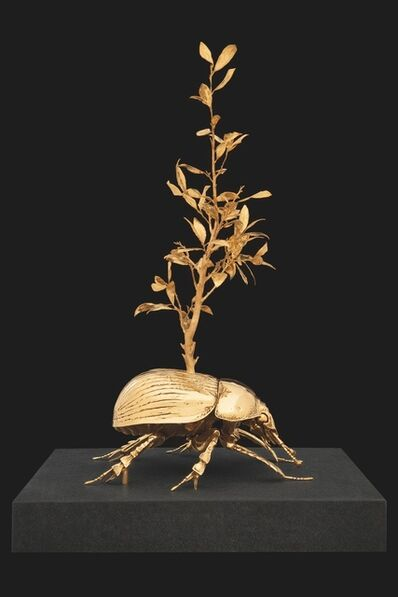 Jan Fabre, 'Holy dung beetle with laurel tree', 2016