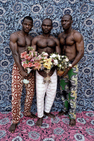 Leonce Raphael Agbodjelou, 'Untitled (Musclemen series)', 2012