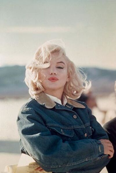 "Eve Arnold, 'Marilyn Monroe in the Nevada desert during the filming of ""The Misfits""', 1960"
