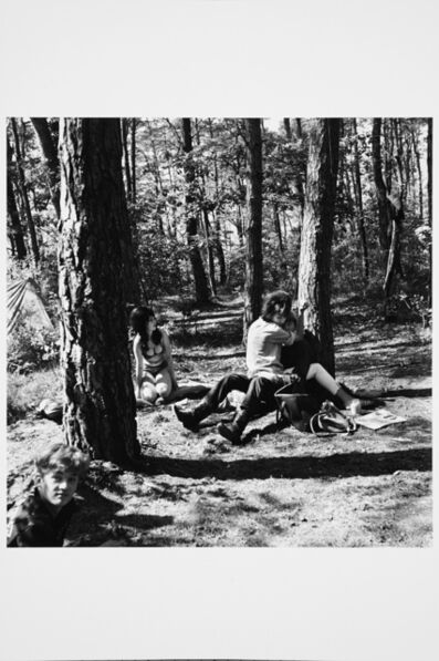 Karlheinz Weinberger, 'Cuddling youth in forest on Saint Peter's island', 1962