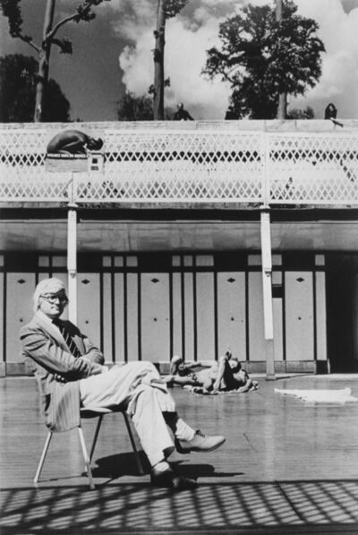 Helmut Newton, 'David Hockney', 1975
