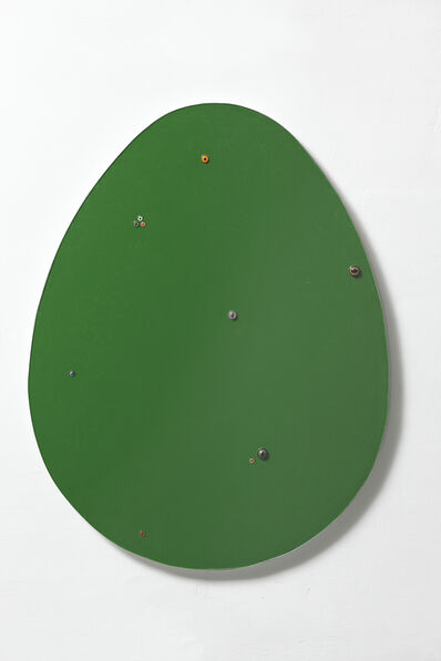 Thomas Grünfeld, 'Untitled (egg / dark green )', 2016