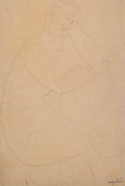 Amedeo Modigliani, 'Figure of a Seated Man', 1915/16