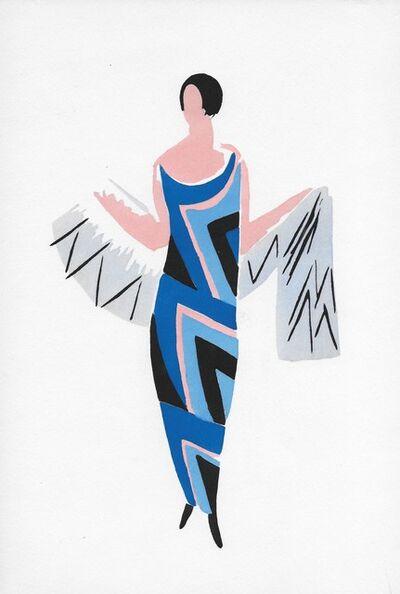 Sonia Delaunay, 'Dame en Bleu', 1969