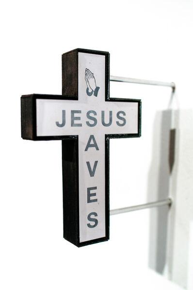 Drew Leshko, 'Jesus Saves (black)', 2019