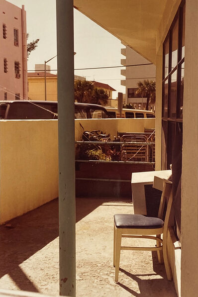 William Eggleston, 'Chair, Pink Building', 1980s