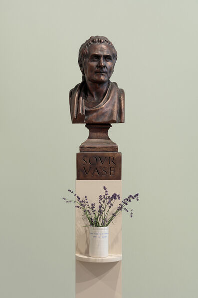 Ian Hamilton Finlay, 'ROUSSEAU (Sour Vase) / A Wild Flower is Ideological, Like a Badge', 1991-93