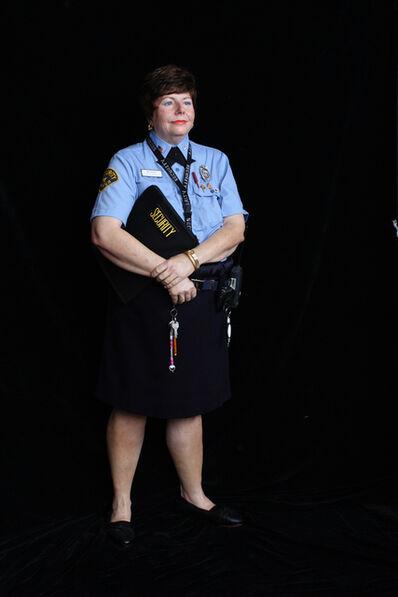 Marc Sijan, 'Lady Security Guard (in blue)', 2016