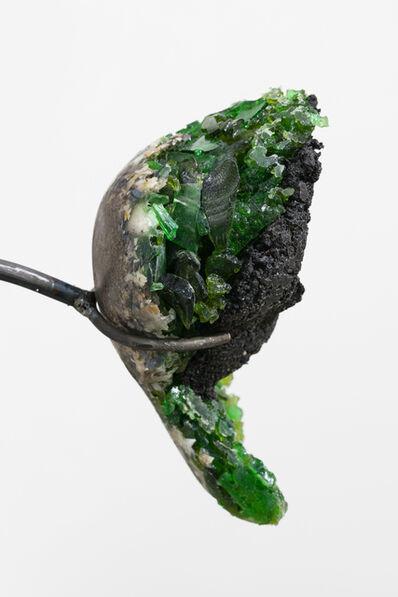 Mariechen Danz, 'Liver (soil sample / green glas)', 2018