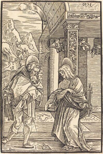 Hans Schäufelein the Elder, 'Saint Roch and Saint Sebastian', 1510
