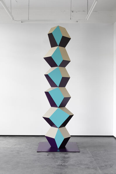 Angela Bulloch, 'Heavy Metal Stack of Six: Turq Totem', 2017
