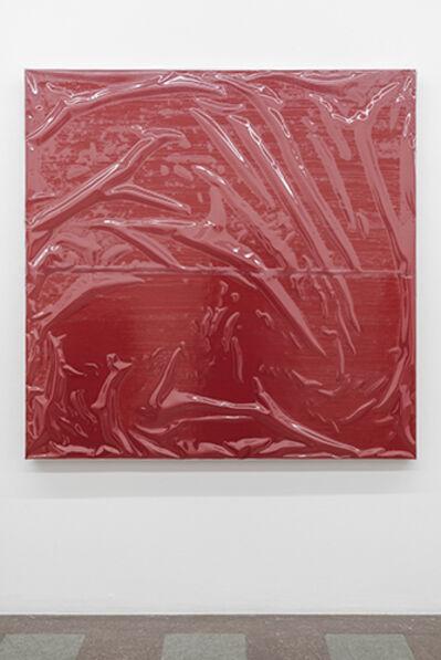Angela de la Cruz, 'Painting with Cover I (Red, Medium)', 2016