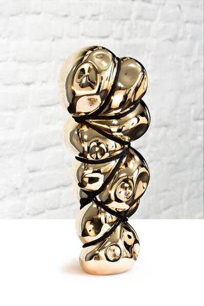 Stephan Marienfeld, 'Bondage Vertical II - Blow-In (Bronze, gold)', 2019