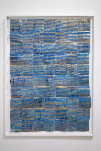 Kevin Francis, 'Untitled (blue and gold)', 2019