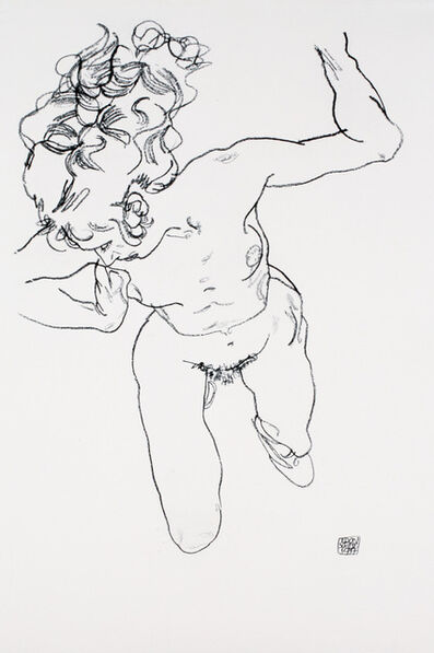 Egon Schiele, 'Nude Lying Down [Handzeichnungen]', 1920