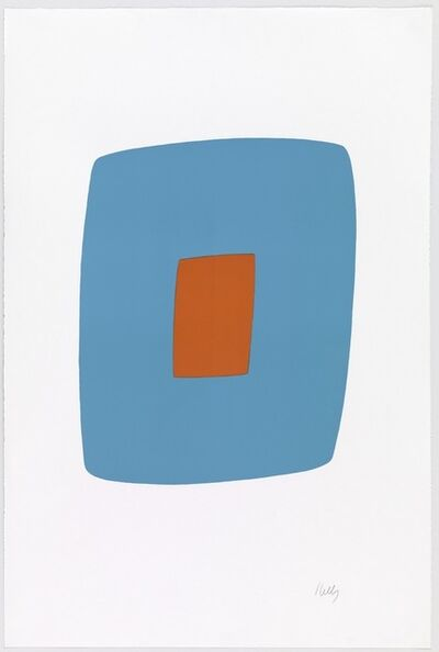 Ellsworth Kelly, 'Light Blue with Orange '