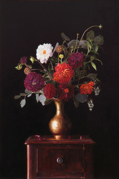 Greg Gandy, 'Floral in Brass Vase'