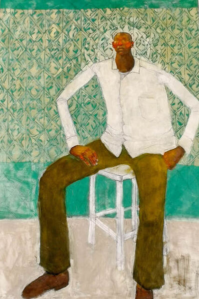 Olivia Mae Pendergast, 'Man sitting with Aura ', 2019