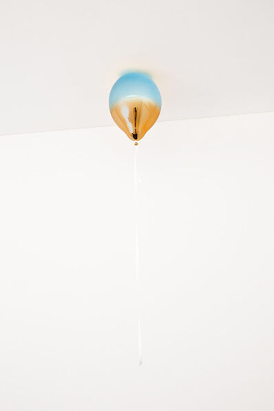 Jeppe Hein, 'Light Blue and Medium Orange Mirror Balloon', 2021