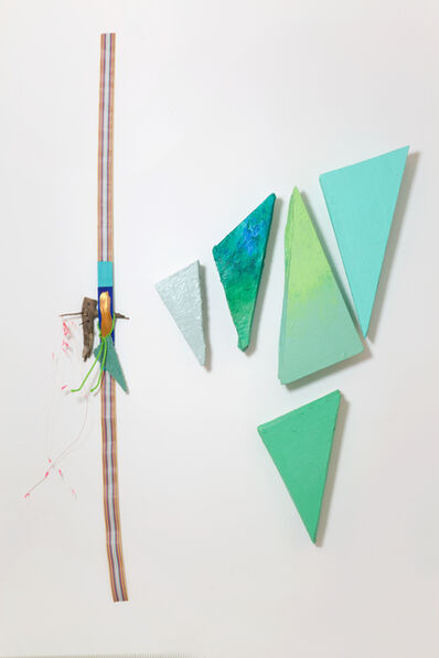 Jessica Stockholder, '# 598 Green Angles', 2014