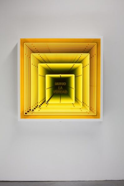 Iván Navarro, 'Murio la Verdad / (Truth has Died)', 2013