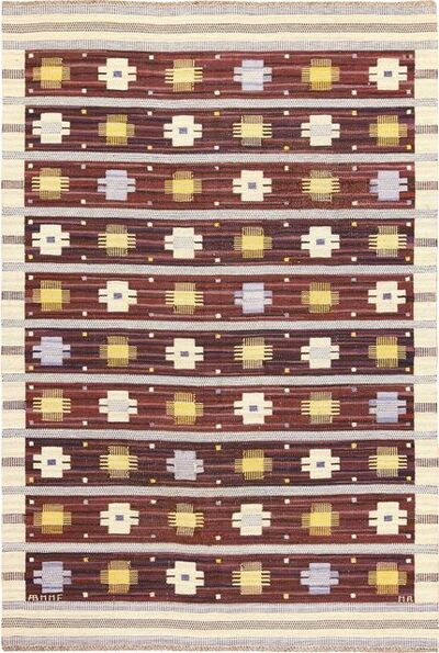 Marianne Richter, 'Vintage Swedish Kilim Rug by Marianne Richter for Marta Maas', ca. 1950