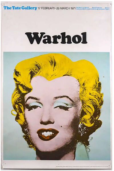 Andy Warhol, 'Marilyn (Tate Gallery, London, 1971)  Exhibition Poster', 1971