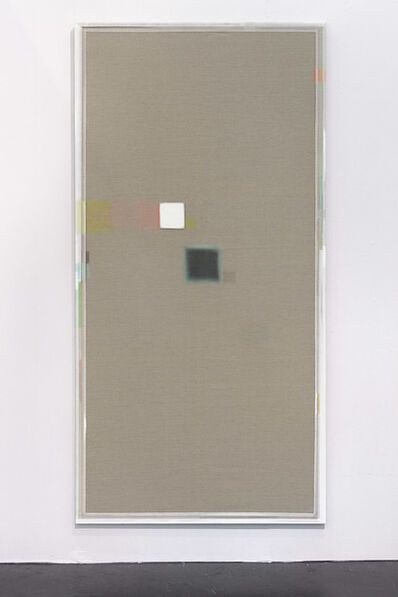 Christoph Schellberg, 'Unprimed painting with square and shadow', 2014