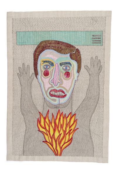 Paloma Castillo, 'Sin título (hombre manos arriba con fuego)', 2019