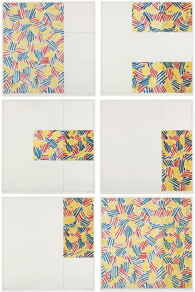 "Jasper Johns, '6 Lithographs (after ""UNTITLED 1975"")', 1976"