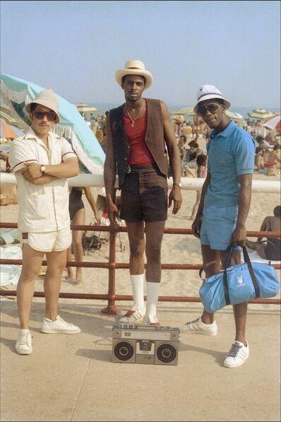 Jamel Shabazz, 'Three Males at the Beach, NYC', 1980