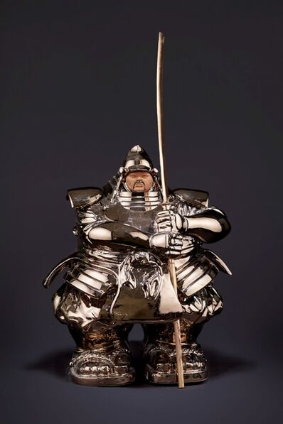Matteo Pugliese, 'Samurai Guardian (Ceramic, Gold)', 2020