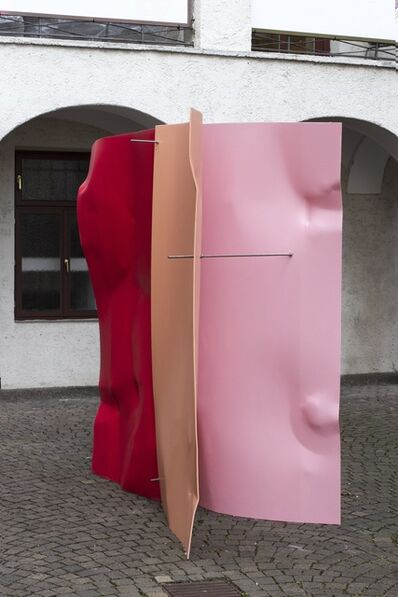 Michael Kienzer, 'Falter 3-teilig Rosarot / Erdbeerrot / Lachsorange', 2019