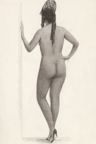 Alfons Walde, 'Nude from the Back with Headdress', ca. 1945