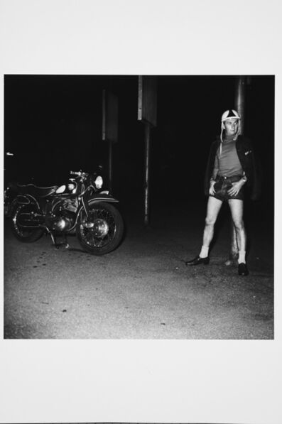 Karlheinz Weinberger, 'Man with motorbike in Zurich', 1958
