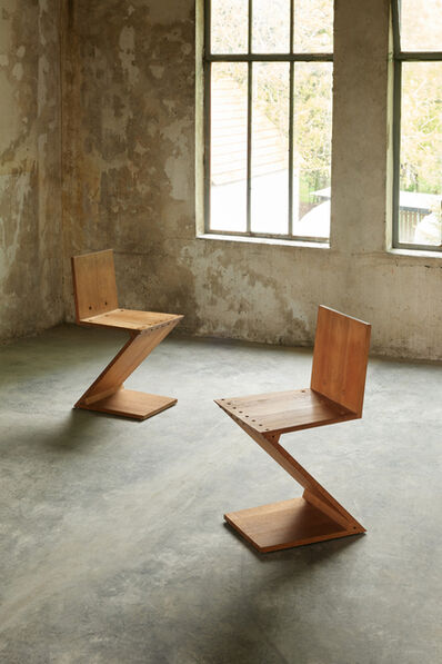 Gerrit Thomas Rietveld, 'Set of Six ZigZag Chairs', design 1932, 1933, manufactured between 1935 and 1950
