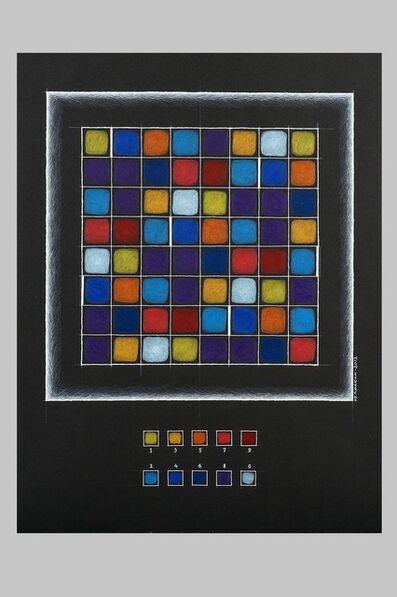 "Alexander Pankin, '""Number square of Gioconda""', 2012"