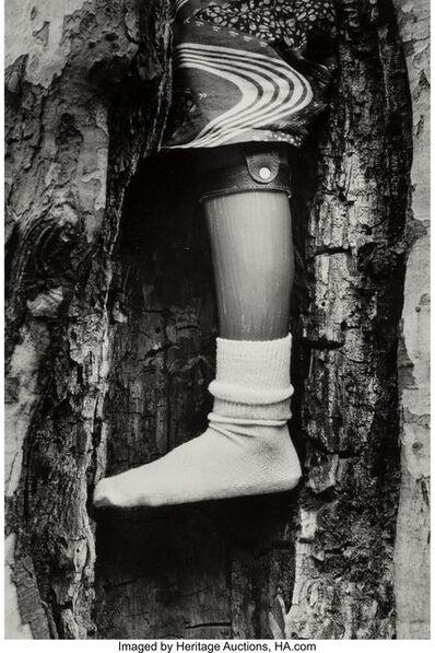 Chester Higgins, Jr., 'Untitled (Prosthetic Leg in a Tree)'