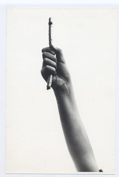 Josef Bauer, 'Language of Showing (hand proof)', 1969