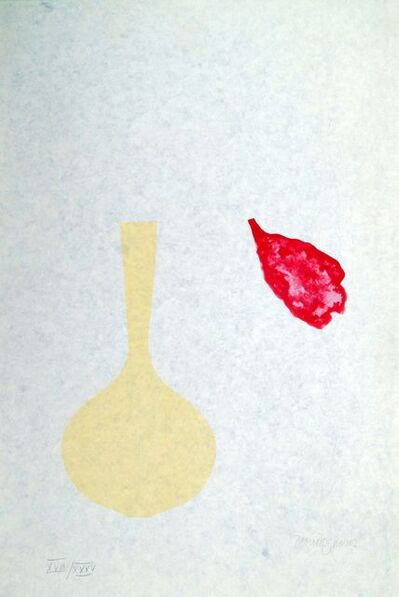Derrick Greaves, 'Vase and Falling Petal from Europaeische Graphik VII', 1971