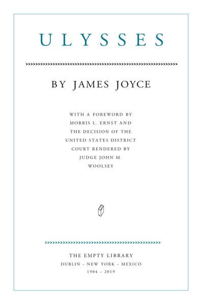 Jorge Méndez Blake, 'James Joyce. Ulysses. 1904 - 2019', 2019