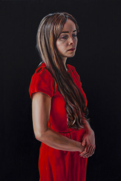 David O'kane, 'Photogénie - Figure in Red', (Number 3 from a series of 12 paintings) ', 2018