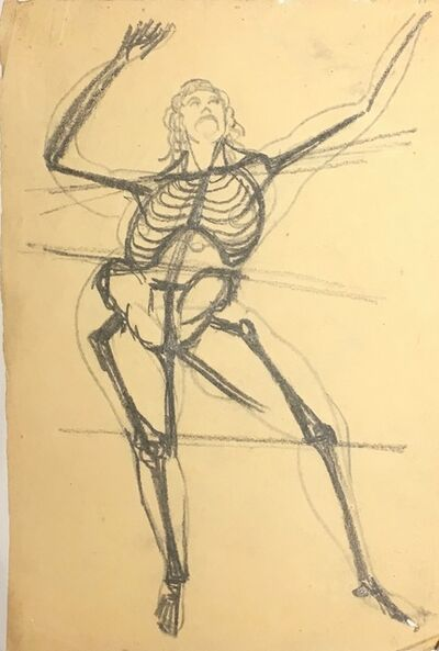 Gaston Lachaise, 'Skeleton Dancing, From the Front', Not dated.