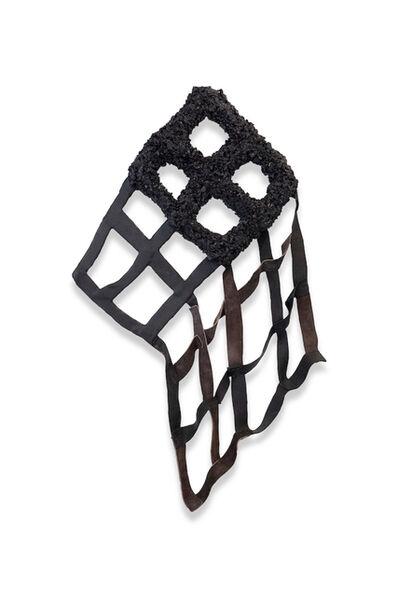 Vadis Turner, 'Leather Grid with Cinders', 2020