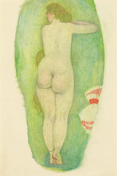 Alfons Walde, 'Nude from the Back with Long Hair, double-sided', ca. 1919