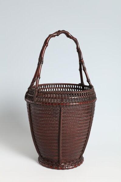Maeda Chikubōsai I, 'Flower Basket with Bamboo Rhizome Handle (T-4190)', ca. 1930