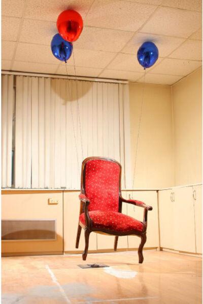 SERKAN ÖZKAYA, 'Chair Elevated by Three Baloons ', 2009
