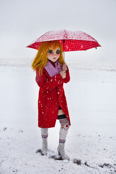 Laurie Simmons, 'Yellow Hair/Red Coat/Umbrella/Snow', 2014