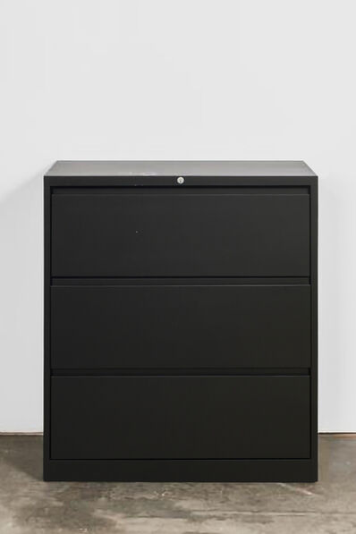 Kaz Oshiro, 'Lateral File Cabinet (back, cup rings, drips)', 2013