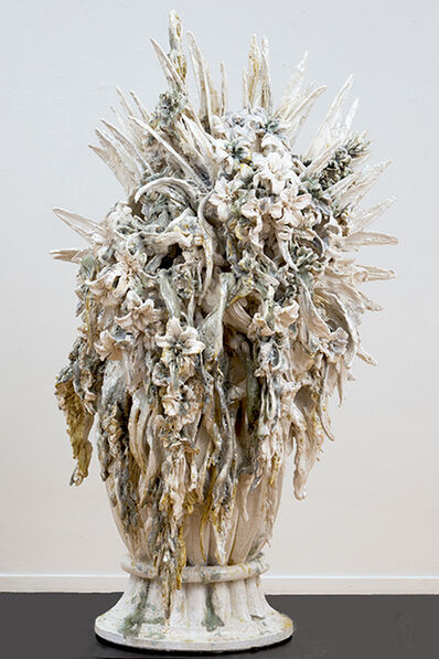Anne Wenzel, 'Attempted decadence (blossoms, large silver)', 2013
